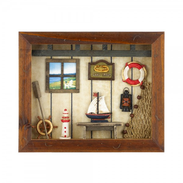WOODEN FRAME WITH NAVY DETAILS YQA01